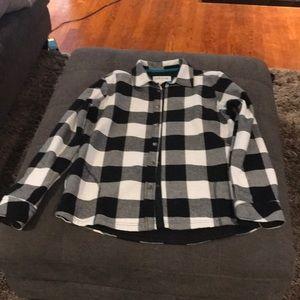Buffalo plaid fleece lined flannel
